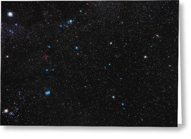 Perseus Constellation Greeting Card by Eckhard Slawik