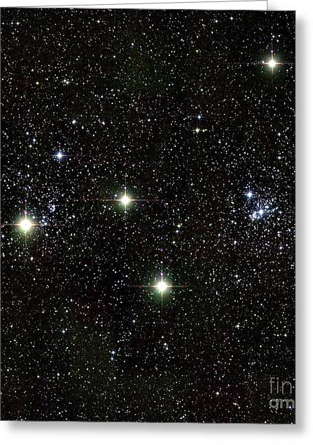 Double Cluster Greeting Cards - Perseus Double Star Cluster, Infrared Greeting Card by 2MASS project / NASA