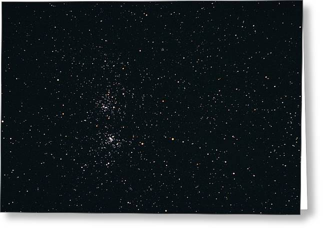 Double Cluster Greeting Cards - Perseus Double Star Cluster Greeting Card by John Sanford