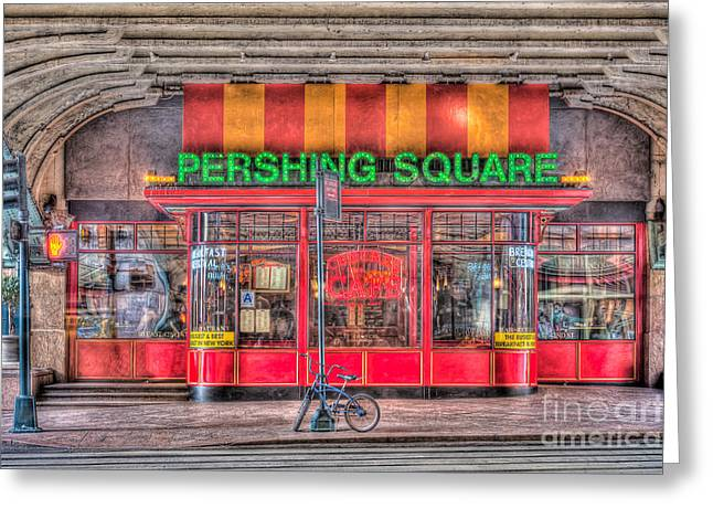 State Dinners Greeting Cards - Pershing Square Central Cafe I Greeting Card by Clarence Holmes