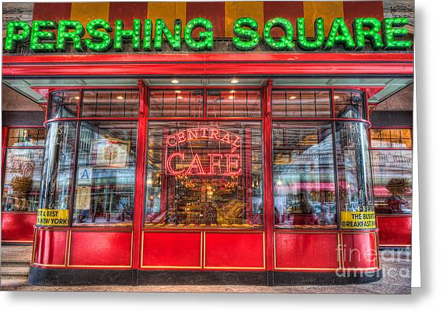 State Dinners Greeting Cards - Pershing Square Central Cafe II Greeting Card by Clarence Holmes