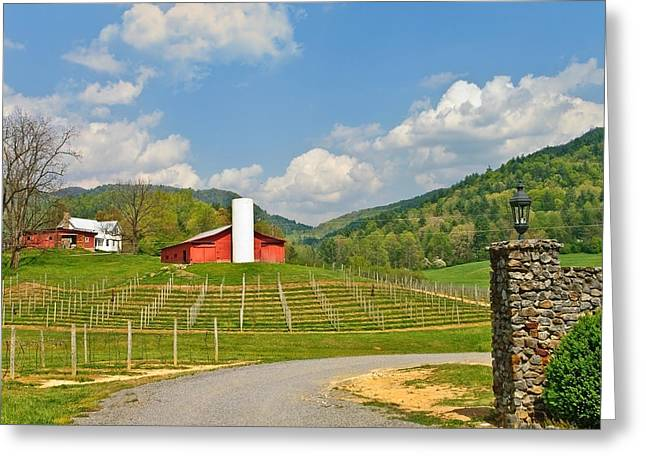 Susan Leggett Greeting Cards - Persimmon Winery Greeting Card by Susan Leggett