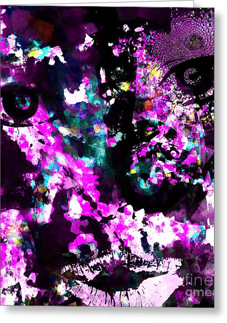 Calling Mixed Media Greeting Cards - Persuading Purple Greeting Card by Fania Simon