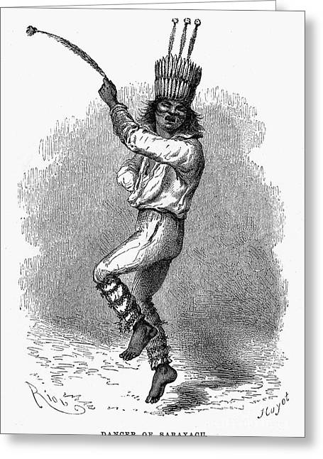 American Tradition Greeting Cards - Peru: Native Indian Dancer Greeting Card by Granger