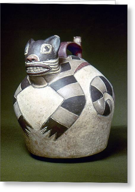 Paint Photograph Greeting Cards - Peru: Nazca Whistling Jar Greeting Card by Granger