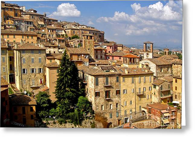Gregory Dyer Greeting Cards - Perugia Italy - 01 Greeting Card by Gregory Dyer
