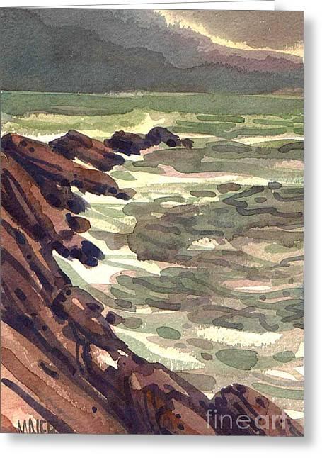 Pescadero Greeting Cards - Pescadero Rocks Greeting Card by Donald Maier