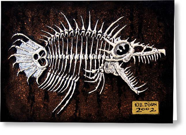 Animals Reliefs Greeting Cards - Pescado Dos Greeting Card by Baron Dixon