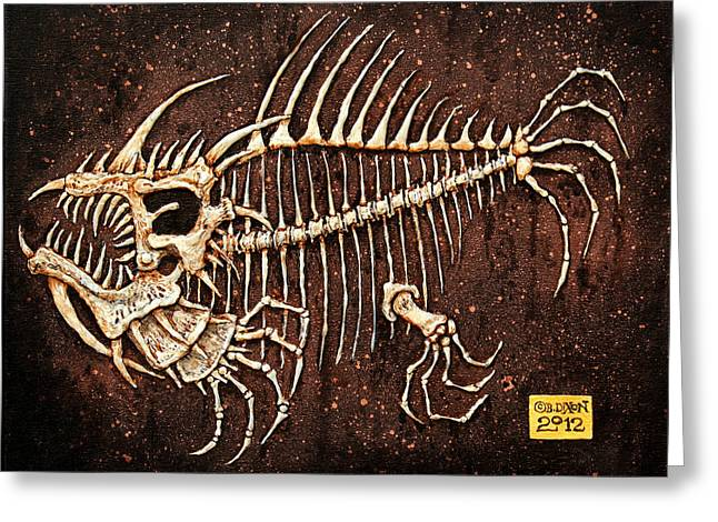 Animals Reliefs Greeting Cards - Pescado Seis Greeting Card by Baron Dixon
