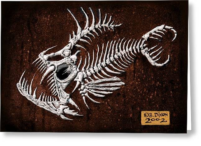 Animals Reliefs Greeting Cards - Pescado Tres Greeting Card by Baron Dixon
