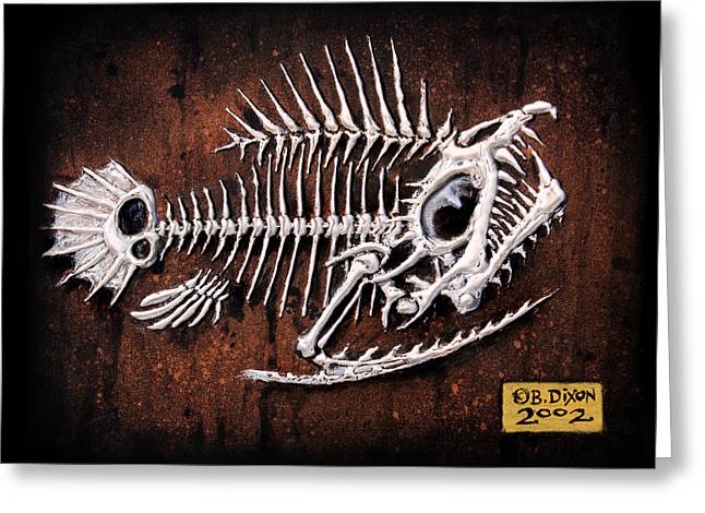 Animals Reliefs Greeting Cards - Pescado Uno Greeting Card by Baron Dixon