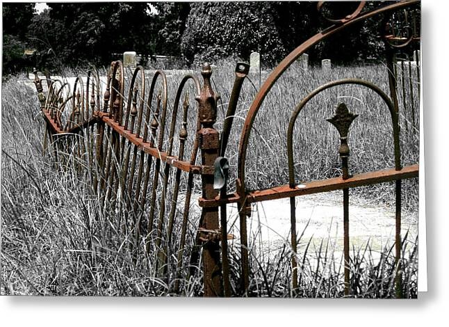 Overgrown Mixed Media Greeting Cards - Pet Cemetary Greeting Card by Adrienne McMahon