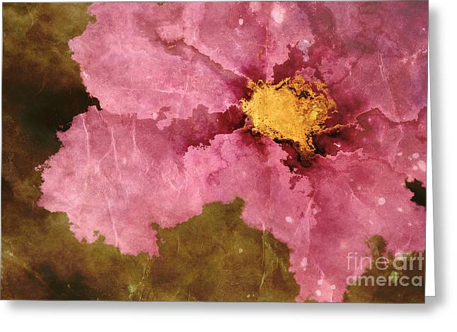 Textured Floral Greeting Cards - Petaline - ar01bt04c2 Greeting Card by Variance Collections