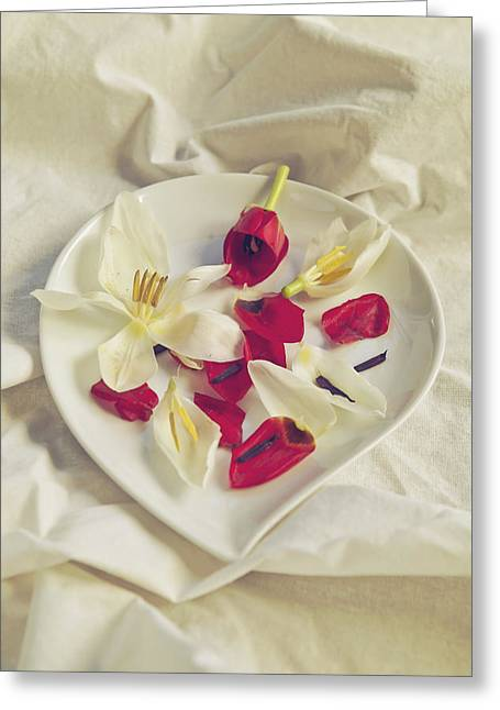 Soft Romantic Greeting Cards - Petals Greeting Card by Joana Kruse