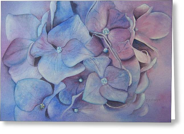 Patsy Sharpe Paintings Greeting Cards - Petals Greeting Card by Patsy Sharpe
