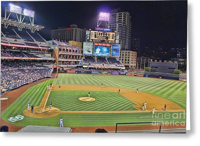 San Diego Padres Stadium Greeting Cards - Petco Park San Diego Padres Greeting Card by RJ Aguilar