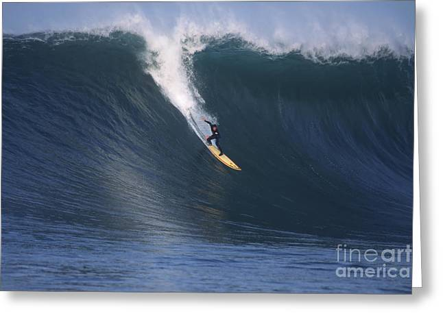 Best Sellers -  - Half Moon Bay Greeting Cards - Pete on a Glassy Wall Greeting Card by Stan and Anne Foster