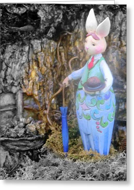 Children Story Book Digital Greeting Cards - Peter Rabbit Greeting Card by Mindy Newman