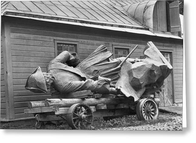 Tallinn Photographs Greeting Cards - Peter The Great, Resting On A Wagon Greeting Card by Maynard Owen Williams