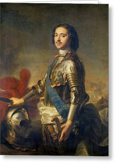 The Hermitage Greeting Cards - Peter The Great, Russian Tsar Greeting Card by Ria Novosti