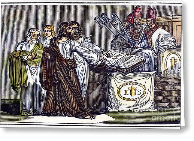 Lateran Greeting Cards - PETER WALDO (d. c1218) Greeting Card by Granger