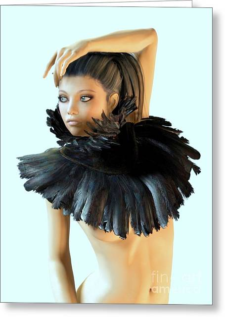 Collar Digital Art Greeting Cards - Petit Oiseau  Greeting Card by Sandra Bauser Digital Art