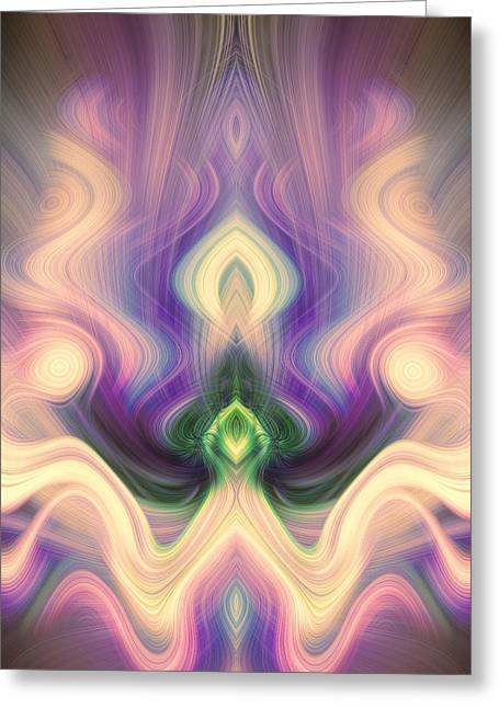 Reaching Up Greeting Cards - Petition in Pink and Purple Greeting Card by Linda Phelps