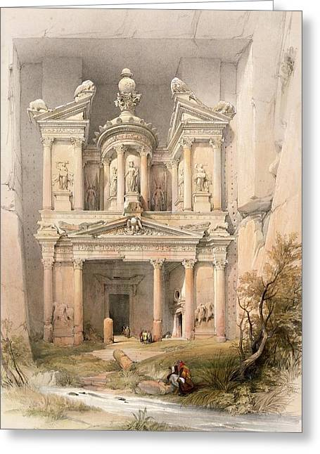 1849 Greeting Cards - Petra Greeting Card by David Roberts