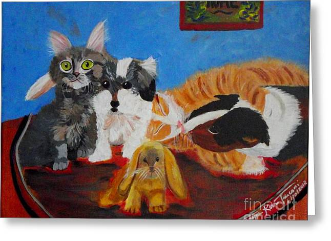 Pictures Of Cats Greeting Cards - Pets Home Greeting Card by Jayne Kerr