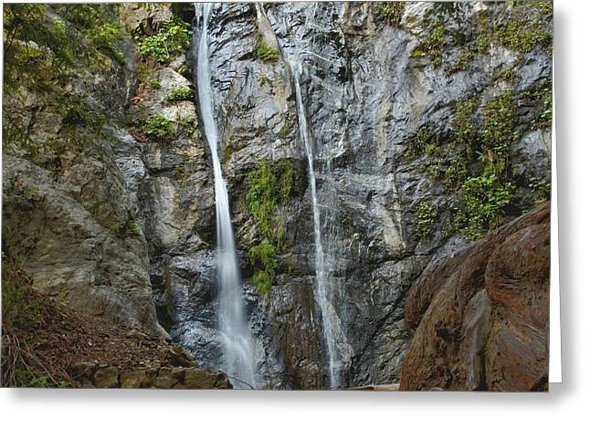 Big Sur California Greeting Cards - Pfeiffer Falls - Big Sur Greeting Card by Stephen  Vecchiotti