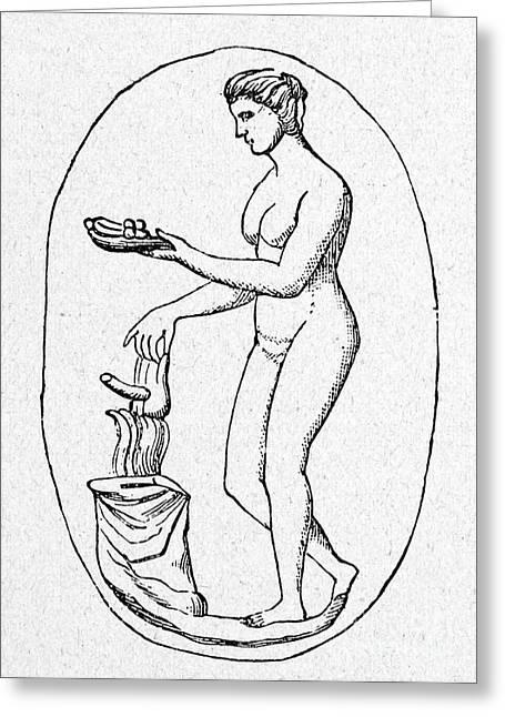 Phallus Greeting Cards - Phallic Sacrifice Greeting Card by Granger