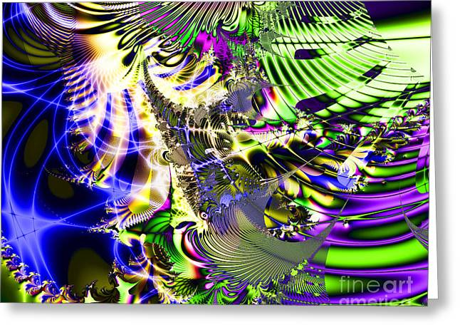 Algorithm Greeting Cards - Phantasm Greeting Card by Wingsdomain Art and Photography