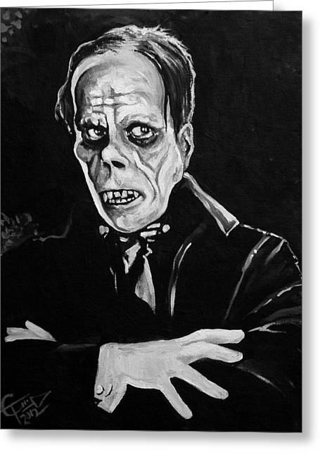 Classic Horror Greeting Cards - Phantom Greeting Card by Tom Carlton