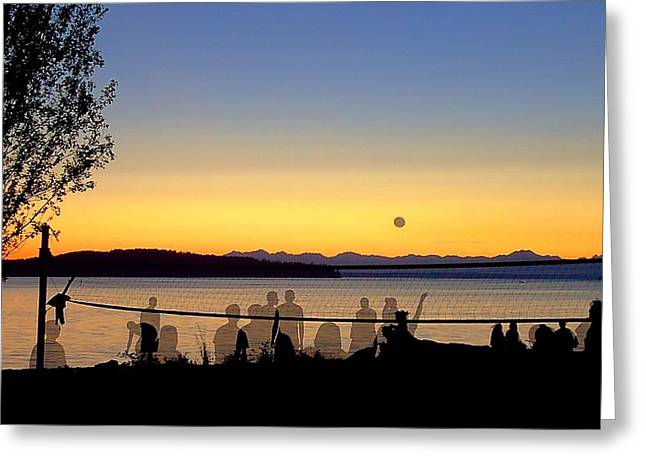 Steilacoom Greeting Cards - Phantom Volleyball Greeting Card by Peter Mooyman