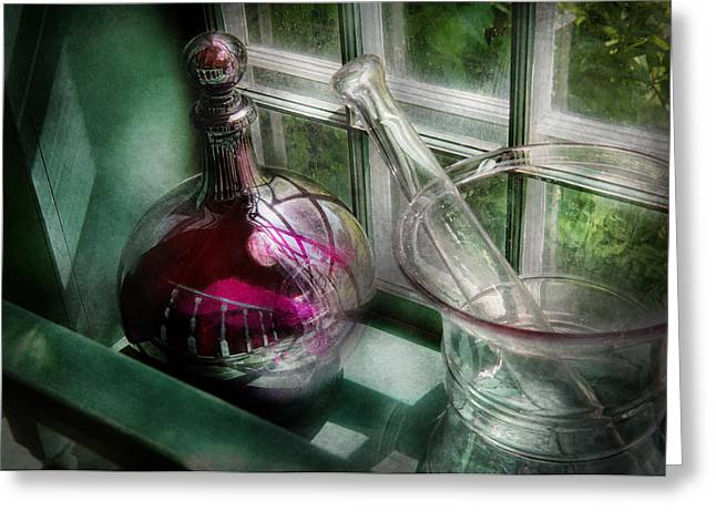 Md Greeting Cards - Pharmacy - The apothecary is open  Greeting Card by Mike Savad