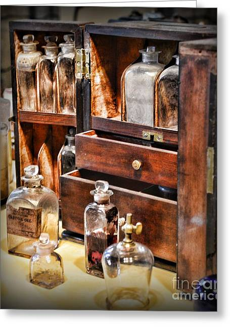 Medication Greeting Cards - Pharmacy - medicine cabinet Greeting Card by Paul Ward
