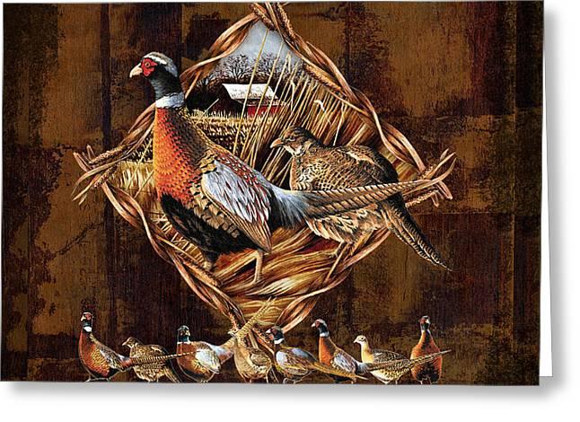 Pheasant Lodge Greeting Card by JQ Licensing