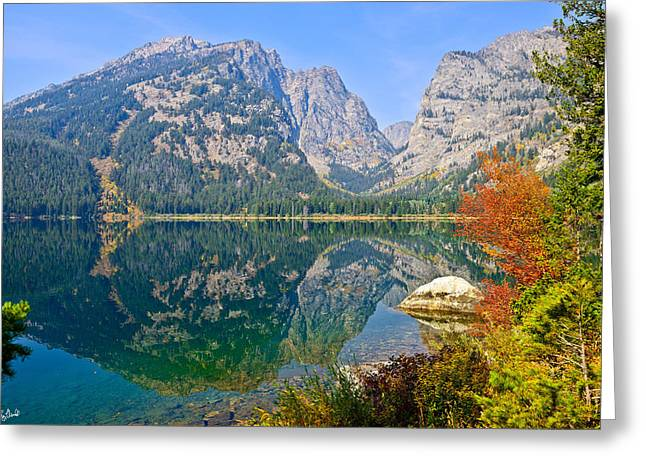 Grand Teton Greeting Cards - Phelps Lake Limited Edition Greeting Card by Greg Norrell