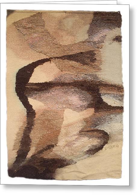 Weave Tapestries - Textiles Greeting Cards - Phenomenon Greeting Card by Dora Stoilova Zlatan Stoilov