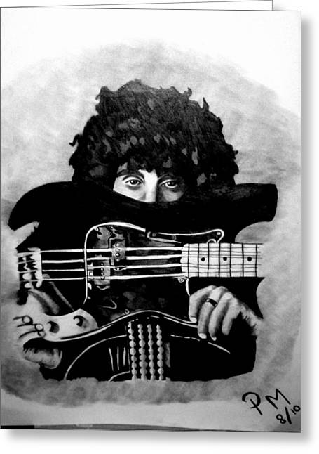 Thin Drawings Greeting Cards - Phil Lynott Greeting Card by Pauline Murphy