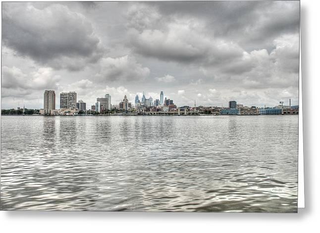 Philadelphia Across The Water Greeting Card by Jennifer Ancker