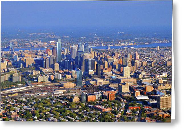 Phillies Art Photographs Greeting Cards - Philadelphia Aerial 0518 Greeting Card by Duncan Pearson