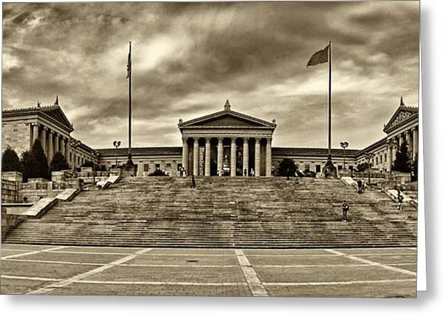 Philadelphia Art Museum Greeting Cards - Philadelphia Art Museum 3 Greeting Card by Jack Paolini