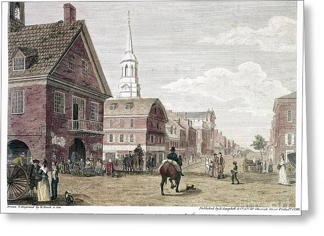 Episcopalian Greeting Cards - Philadelphia: Birch, 1799 Greeting Card by Granger