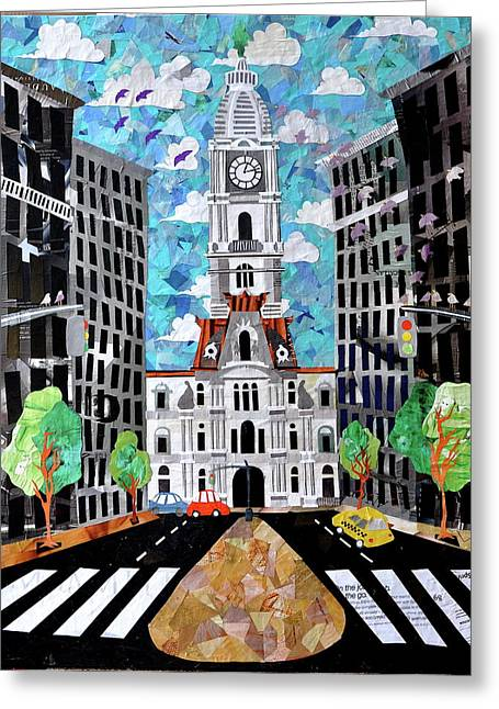 Phillies Mixed Media Greeting Cards - Philadelphia Greeting Card by Blair Barbour