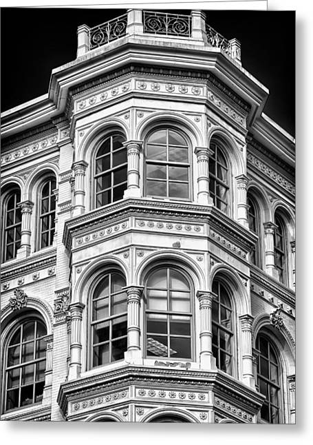 Blackrussianstudio Greeting Cards - Philadelphia Building Detail 1 Greeting Card by Val Black Russian Tourchin