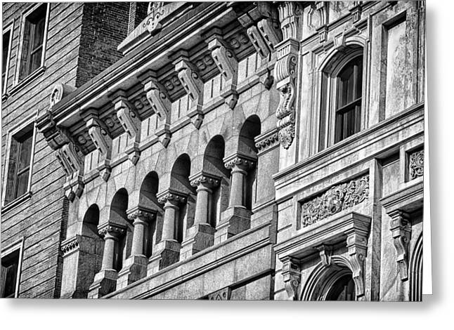 Blackrussianstudio Greeting Cards - Philadelphia Building Detail 2 Greeting Card by Val Black Russian Tourchin