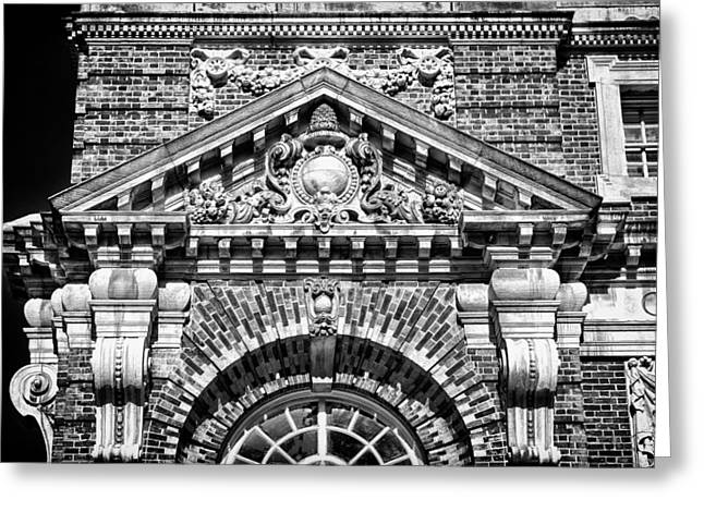 Blackrussianstudio Greeting Cards - Philadelphia Building Detail 3 Greeting Card by Val Black Russian Tourchin