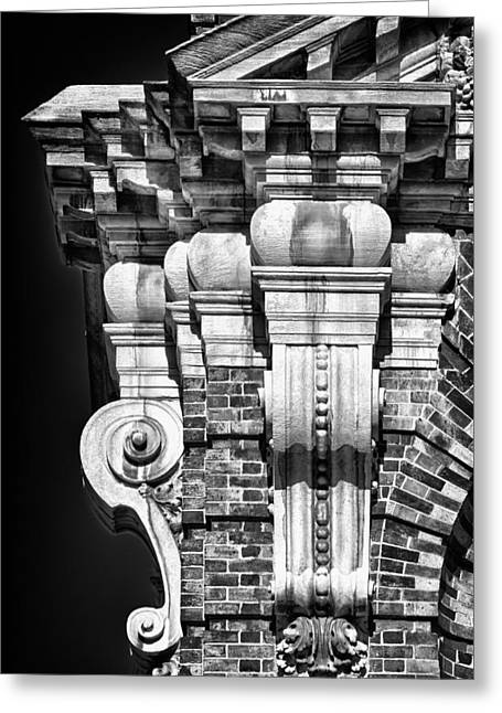 Blackrussianstudio Greeting Cards - Philadelphia Building Detail 4 Greeting Card by Val Black Russian Tourchin