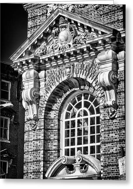 Blackrussianstudio Greeting Cards - Philadelphia Building Detail 5 Greeting Card by Val Black Russian Tourchin